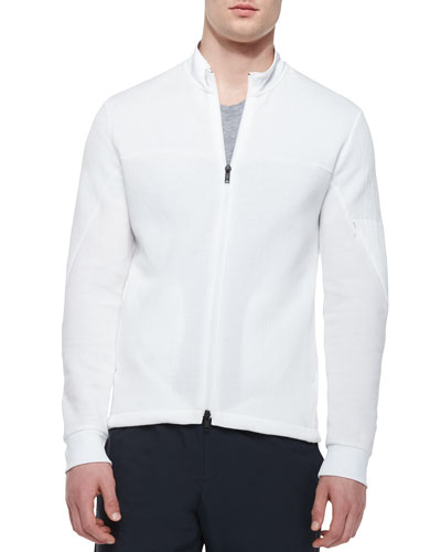 Danek Full-Zip Track Jacket, White