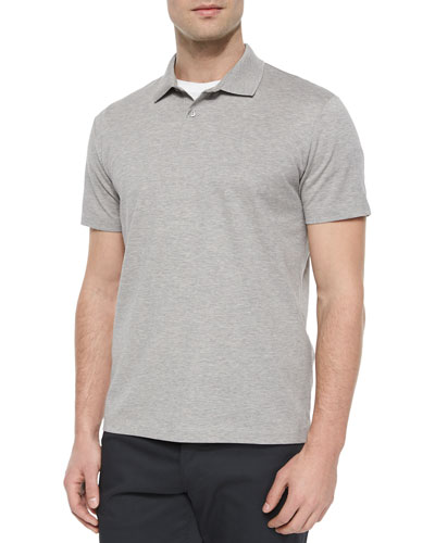 Sandhurst Short-Sleeve Pique Polo Shirt, Gray