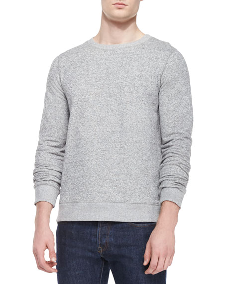 Theory Danen Crewneck Sweatshirt, Gray