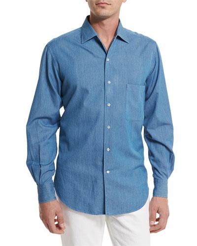 Andre Denim Button-Down Shirt