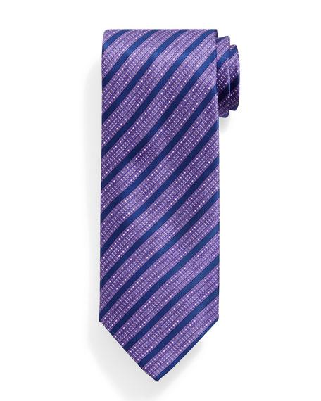 Stefano Ricci Bold Stripe Patterned Silk Tie, Purple