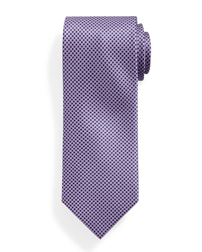 Small Neat-Patterned Silk Tie, Lavender