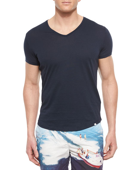 Orlebar Brown Bobby V-Neck T-Shirt, Navy