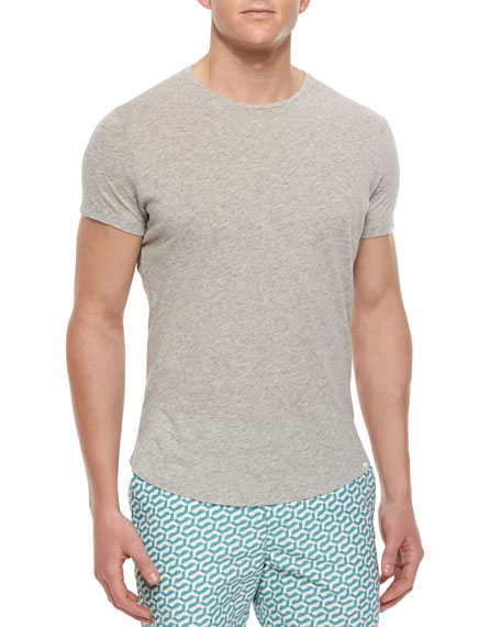 Tommy Crewneck Short-Sleeve T-Shirt, Gray