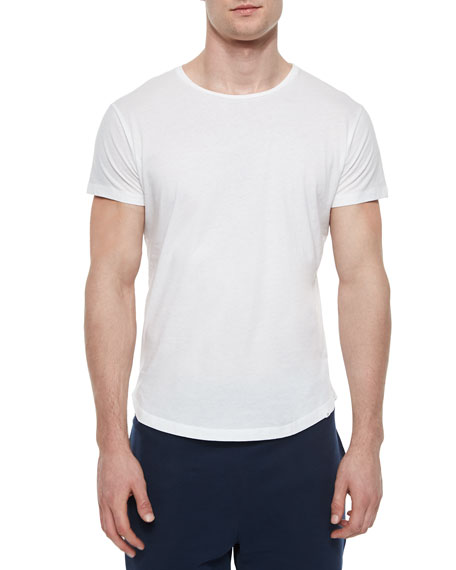 Orlebar Brown Tommy Solid Crewneck T-Shirt, White