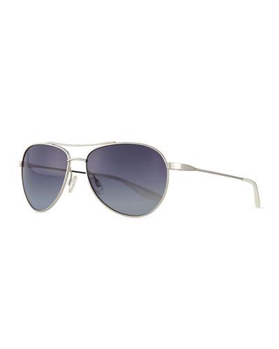 Lovitt Aviator Sunglasses, Gray
