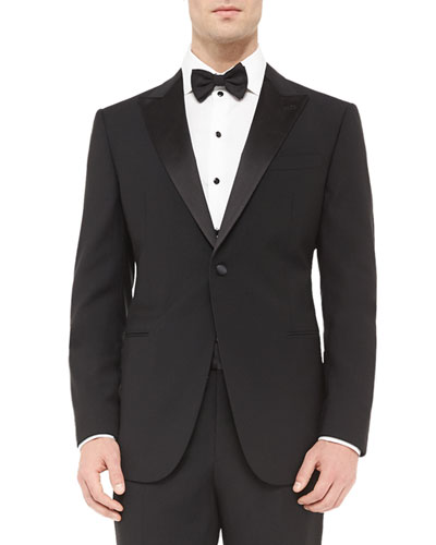 Peak-Lapel Single-Breasted Tuxedo