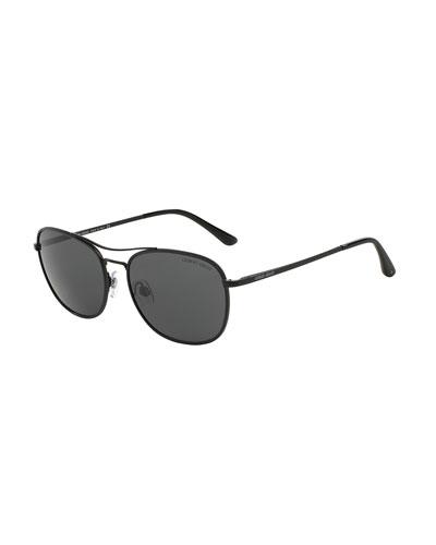 Polarized Square Sunglasses, Matte Black