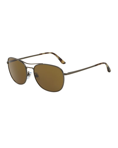 Full Rim Square Sunglasses; Matte Dark Green