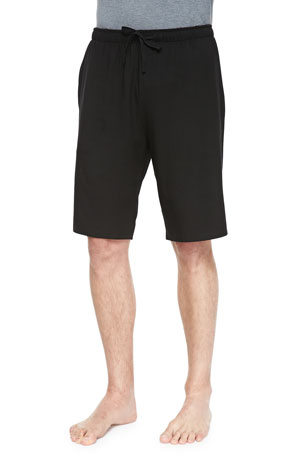 Derek Rose Basel 1 Jersey Lounge Shorts, Black