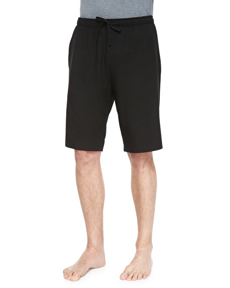 Derek Rose Basel Jersey Lounge Shorts, Black