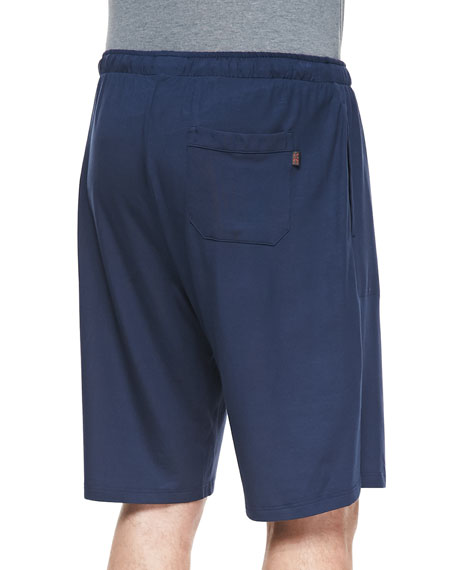 Basel Jersey Lounge Shorts, Navy