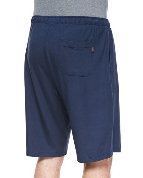 Basel Jersey Lounge Shorts, Navy