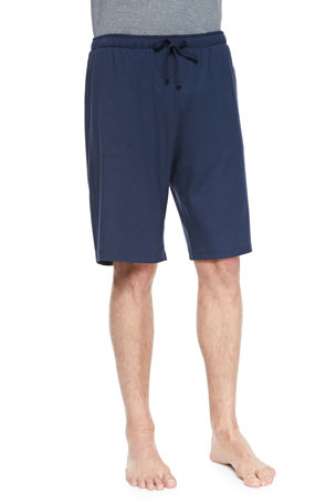 Derek Rose Basel Jersey Lounge Shorts, Navy