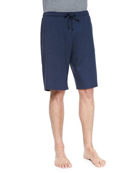 Derek Rose Basel Jersey Lounge Shorts, Navy