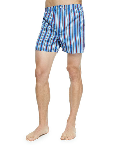 Striped Classic Boxers, Light Blue
