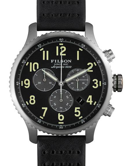 Filson 43mm Mackinaw Field Chrono Watch with Leather