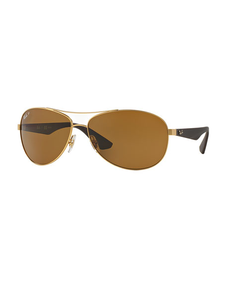 Gold Frame Ray Ban Sunglasses : Ray-Ban Wire-Frame Metal Sunglasses, Matte Gold
