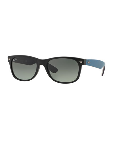 New Wayfarer Matte Sunglasses, Black