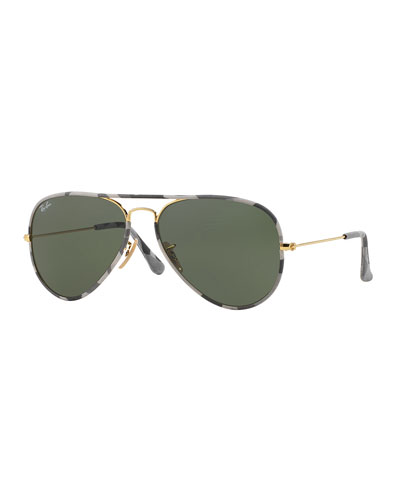 Original Aviator Sunglasses with Camouflage, Gray