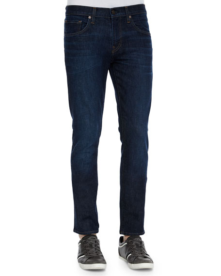 Men's Mick Five-Pocket Dark Wash Jeans, Denim