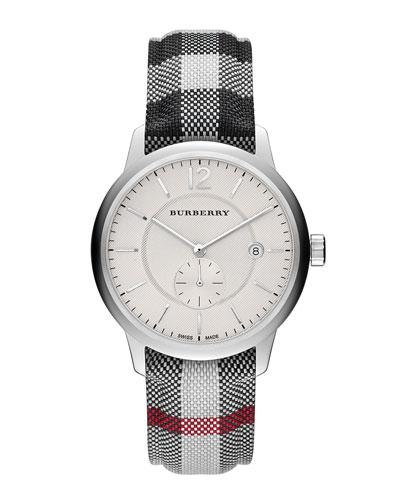 40mm Check-Strap Watch
