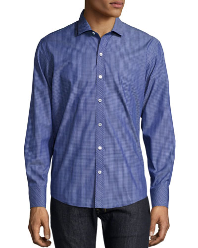 Check Cotton Sport Shirt