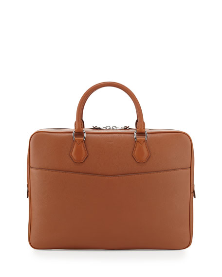 dunhill Boston Leather Single Document Case, Tan