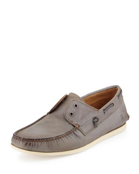 John Varvatos Star USA Schooner Leather Boat Shoe,