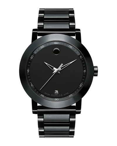 42mm Museum Sport Watch, Black