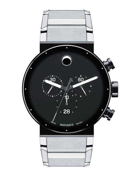 Sapphire Synergy Chronograph Watch, Silver/Black
