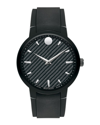 Gravity Watch with Black Rubber Strap