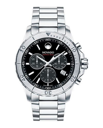 Series 800 Chronograph Watch, Silver/Black