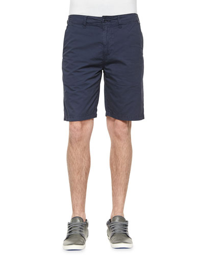 Woven Cotton Shorts, Blue