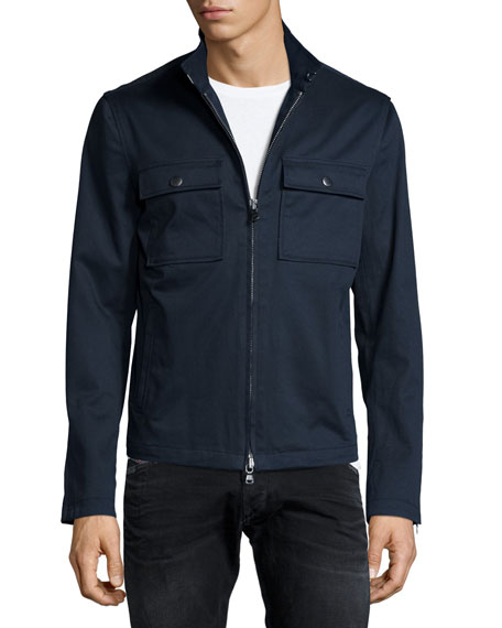John Varvatos Star USA Chest-Pocket Zip Jacket, Indigo
