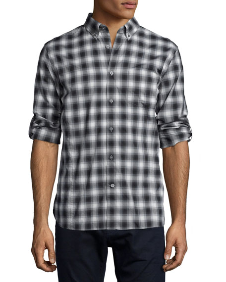 John Varvatos Star USA Check Roll-Tab Woven Shirt,