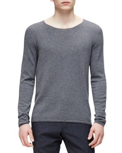 Cashmere Crewneck Sweater, Gray