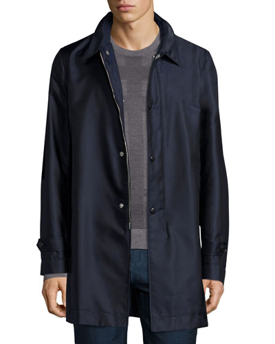 Nylon Car Coat, Navy