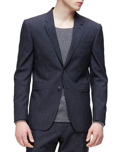 Modern-Fit Wool/Cashmere Jacket, Navy