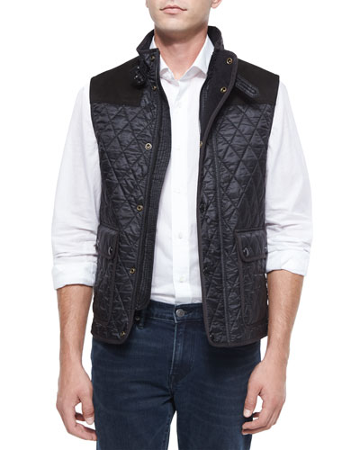 Rosston Quilted Vest, Black