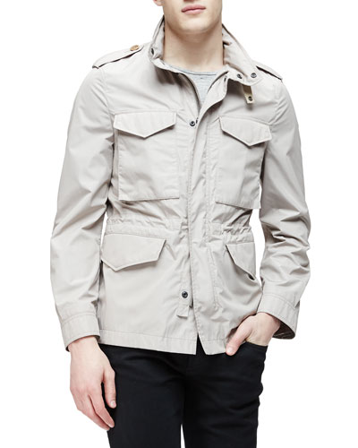 Lightweight Nylon Field Jacket, Taupe