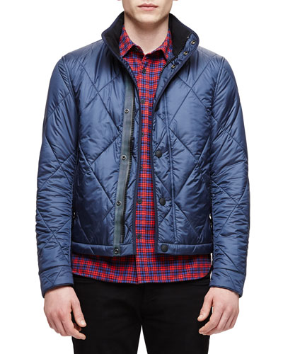 Large Quilted Jacket, Navy