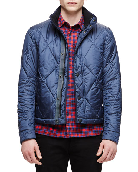 Burberry Brit Large Quilted Jacket, Navy