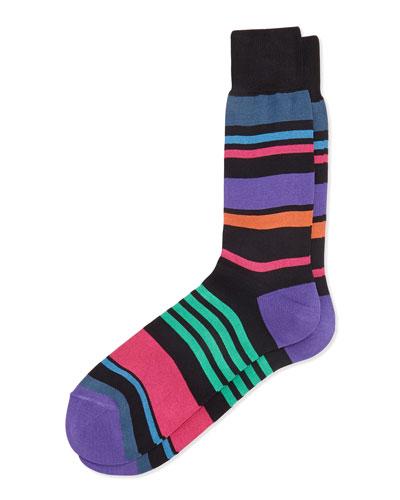 Summer Stripe Socks, Black