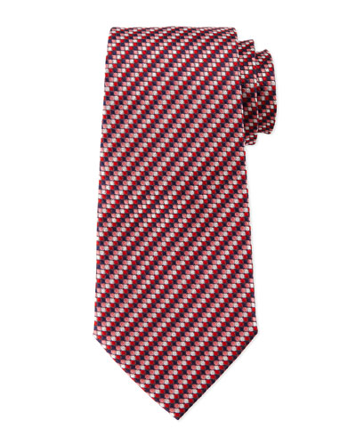 Micro-Track Neat Tie, Red