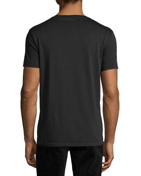 Lindon Cotton V-Neck T-Shirt, Black