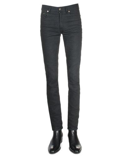 Clean-Wash Denim Jeans, Black