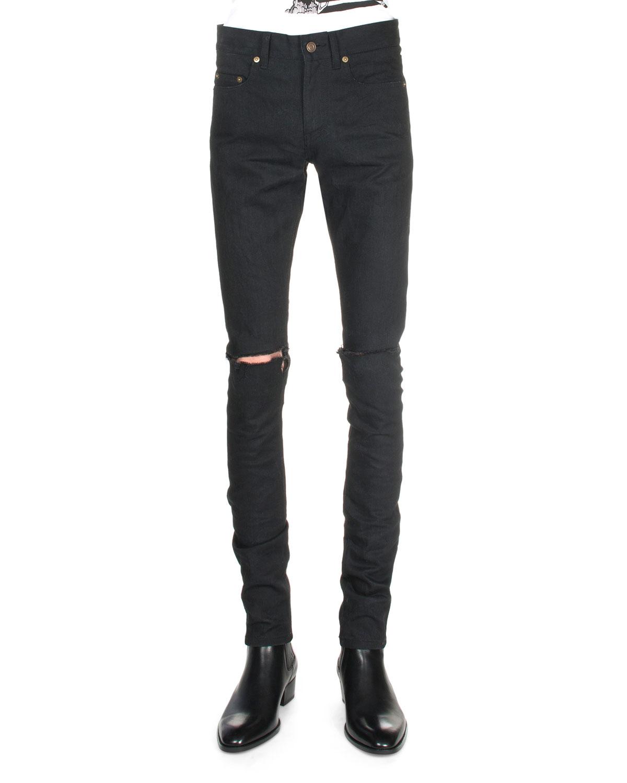 raw cropped slim fit jeans - Black Saint Laurent VgWMivST