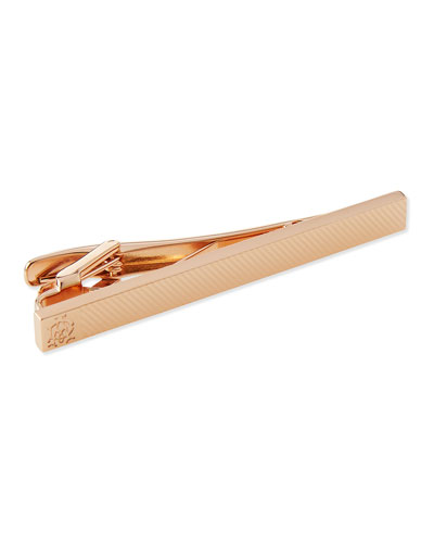 Rose Gold-Plated Knurl Tie Bar