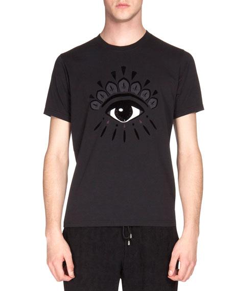 Kenzo Eye-Print Icon T-Shirt, Black